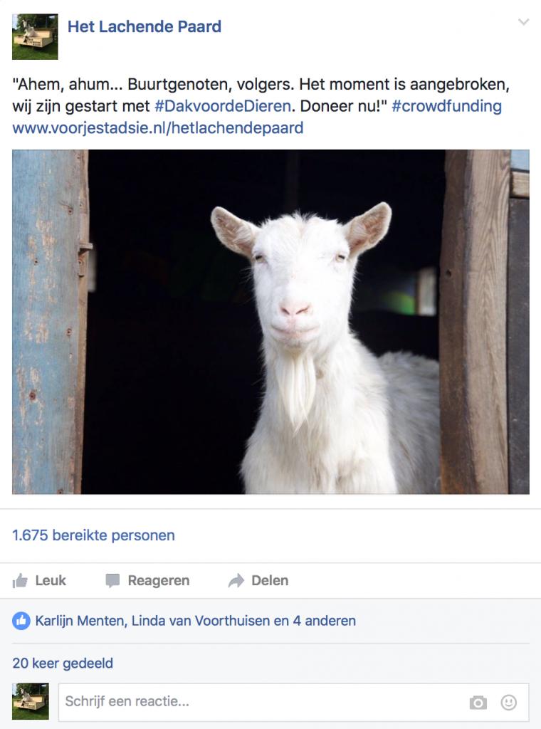 Aankondiging Crowdfunding door Diva